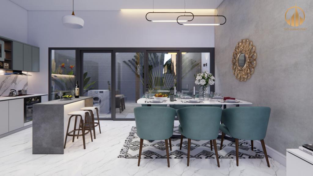 Phòng bếp rộng rãi và đầy đủ tiện nghi