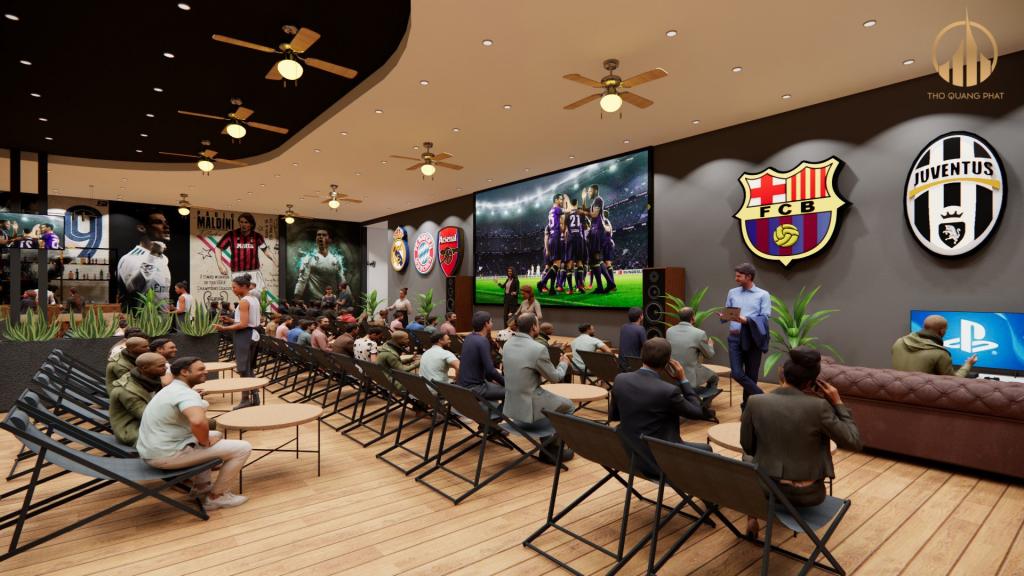 Các fan bóng đá có thể cổ vũ cho đội tuyển của mình ngay tại quán cà phê