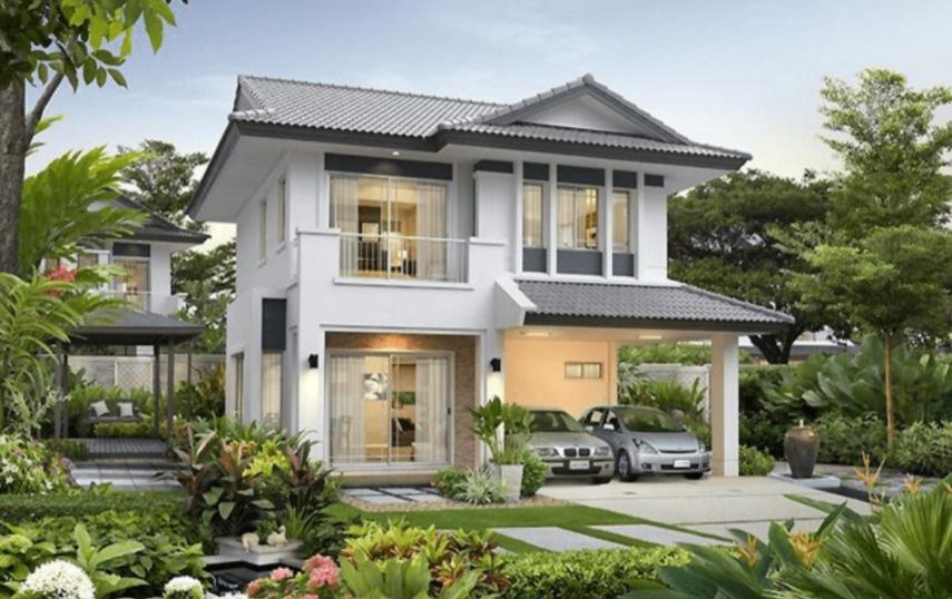 Phối cảnh tổng thể ngôi nhà